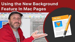 background feature in mac pages