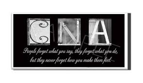 Cna Quotes Gorgeous CNA Inspirational Plaque Black White Letter Art Nursing Grad