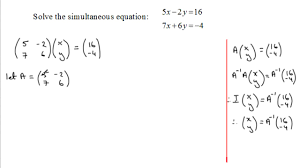 exquisite simultaneous equations matrix method examsolutions maths substitution full size