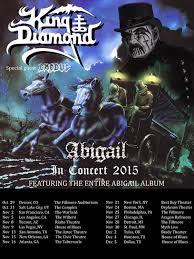 King Diamond And Exodus Tour Poster Fall 2015