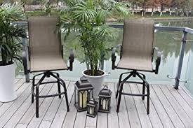 amazoncom 2 santa monica outdoor swivel sling patio bar stools dining chairs garden u0026 patio swivel bar stools g97