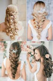 wedding hairstyle with long hair curly
