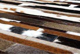 brown and white rug. Brown And White Rug Hair On Hide Detail Of Black Patchwork Cowhide