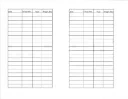 Blank Workout Logs Printable Weight Lifting Logs Kadil Carpentersdaughter Co