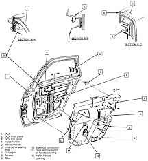 23 exploded view of the rear door trim panel 1991 96 corsica