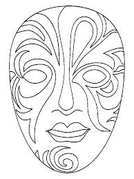 Maskers Kleurplaten Fantasie