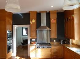 Kitchen Color Idea Black Kitchen Color Ideas With Solid Wood Cabinets And Silver