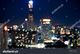 Building Focus Lights Colorful City Modern Buildings Night Abstract Stock Photo