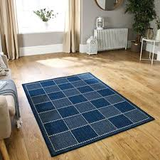 details about anti slip flat weave gel backing blue sisal rug checked kitchen mat runner floor soft sisal rug