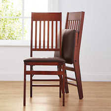 faux leather dining chairs ebay. mission style dining chair solid wood folding guest dinner parties faux leather chairs ebay