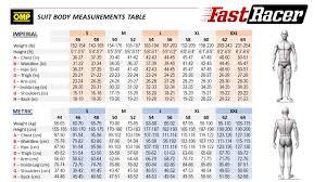 Omp Kart Suit Size Chart Omp Summer K Indoor Karting Suit