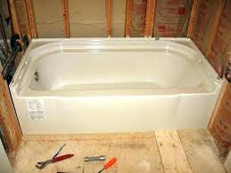 how to install a new bathtub install bathtub faucet replace bathtub faucet single handle new sterling how to install a new bathtub
