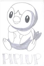 Welcome To Pokemon Coloring Pages Piplup
