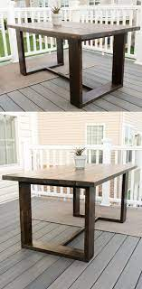 modern outdoor table build plans