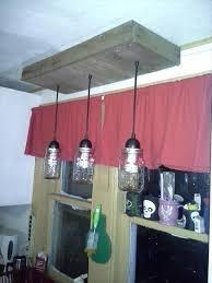 upcycled pallet hanging mason jars light fixture