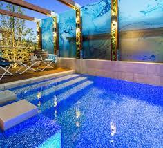 swimming pool. Plain Swimming Courtyard Blue Tile Swimming Pool With Swimming Pool