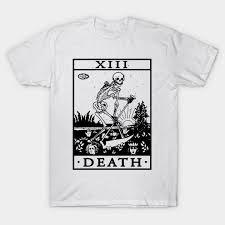 <b>VINTAGE TAROT CARD T</b> SHIRT, DEATH CARD, OCCULT, TAROT