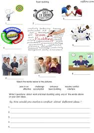 Vocab Building Worksheets Team Building Vocabulary Speaking Lesson For Business English