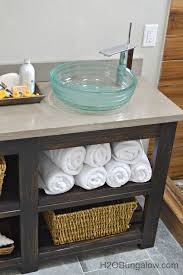 open shelf vanity. Wonderful Open DIY Vanity With Open Shelves Free Downloadable Plans H2OBungalow To Shelf 8