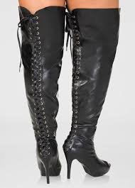 lace up over the knee boots wide calf wide width women plus sizes
