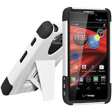 motorola droid razr white. amzer® double layer hybrid case with kickstand - black/ white for motorola droid razr maxx hd xt926 droid razr t