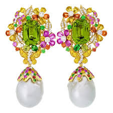 erfly garden peridot and baroque pearl earrings