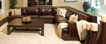 Leather Sectional Living Room Top Grain Leather Living Room Set Easton On Sectional Sofa Home