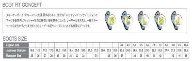 Fischer Nordic Ski Size Chart 52 Explicit Fischer Ski Boots Sizing Chart