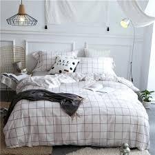 plaid bedding sets cotton quality simple plaid bedding sets king queen size soft bed set duvet