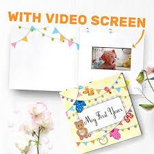 My First Year Video Album First Birthday Gift Baby Keepsake Book