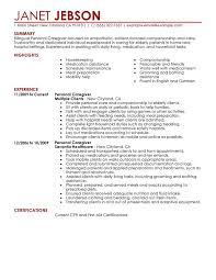 Personal Resume Example Impressive Personal Care Resume Examples Free To Try Today MyPerfectResume