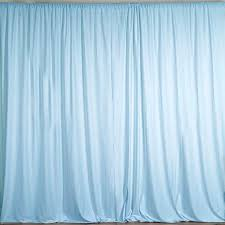 Light Blue Backdrop Curtain Ak Trading Co 10 Feet X 10 Feet Polyester Backdrop Drapes Curtains Panels With Rod Pockets Wedding Ceremony Party Home Window Decorations Light