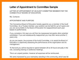 Appoitment Letter Example Of Appointment Letter Letter Of