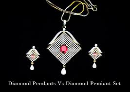 diamond pendant set designer
