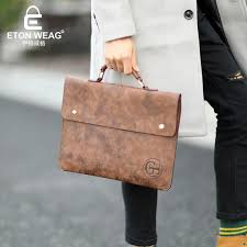 whole etonweag brands italian leather briefcases men laptop bag brown luxury business briefcase lawyer laptop bag mens office bags leather purse rolling