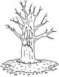 Small Picture Tree Without Leaves Coloring Page Coloring Home