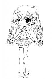 Small Picture Beautiful Cute Chibi Coloring Pages 30 On Coloring for Kids with