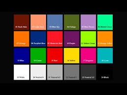 16 Color Chart Color Reference Chart Sunlight 40 Sec 720p Hd