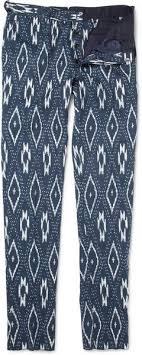 Burberry Prorsum - Ikat-<b>print Cotton and Linen</b>-blend Trousers ...