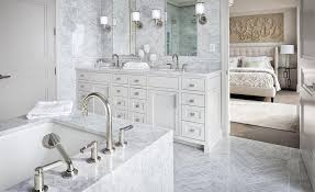 Master Bathroom Magnificent White And Gray Master Bathroom With Gay Marble Chevron Floor