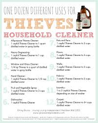 free printable top 12 uses for young living thieves household cleaner