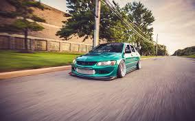 mitsubishi evo 8 jdm. mitsubishi lancer evolution viii car jdm japanese cars green motion blur blurred stance evo 8 jdm