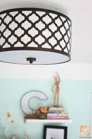 hampton bay edgemoor ceiling light fixture mounted in a bright and cheery home office ceiling lighting fixtures home office browse
