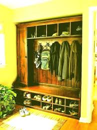 small entry closet ideas mudroom coat rack bench and front storage traditional with fr small entry closet