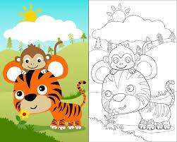 Monitos Tiernos Para Colorear Dibujos Infantiles Para Colorear Dibujos Personajes Infantiles