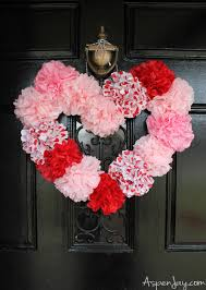 tissue paper heart wreath tutorial inexpensive and pretty heart craft to make for valentines
