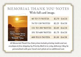 Thank You Note After Funeral To Coworkers Memorial Thank You Notes By Memorial Prayer Cards