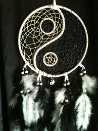 Purchase Dream Catchers Yin and Yang dream catcher White area webbing glows in the dark 22