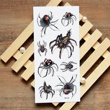 Us 075 5 Off3d Spider Tattoo Decals Body Art Decal Spider Waterproof Paper Temporary Tattoo 004 In Temporary Tattoos From Beauty Health On