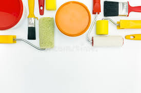paint tools with paint cans stock photo image of repair indoors 53895590